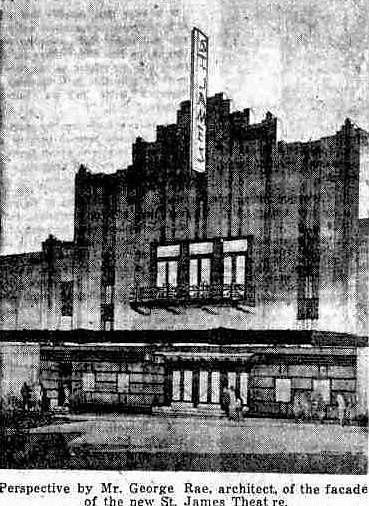 The St James Theatre 1938, formerly The Empire and later Hoyts Paris