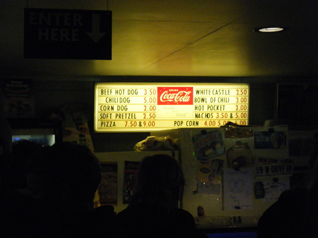 99W Drive-In's Concession Menu (Left)