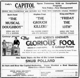 August 5th, 1922 grand opening ad as Capitol
