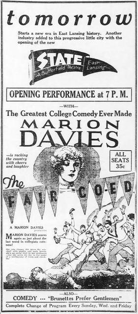 November 2nd, 1927 grand opening ad
