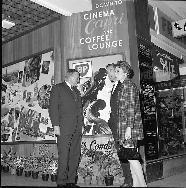 Entrance to Perth's Capri Cinema, formerly the Mayfair Theatrette