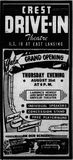 August 29th, 1950 grand opening ad