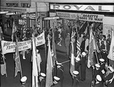 Street parade for the opening of BABETTE GOES TO WAR, Theatre Royal, 1960