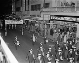 Opening parade for BABETTE GOES TO WAR, Perth's Theatre Royal, 1960