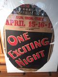 """D.W. Griffith's """"One Exciting Night"""" Lobby Poster"""