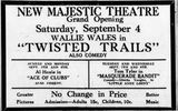September 3rd, 1926 grand reopening ad