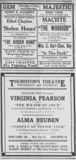 1918, three area theatres in ads.