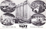 Taft Hotel Building postcard with Roxy Theatre