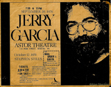 Jerry Garcia Band, Astor Theater, Reading, PA, Sept. 20, 1976