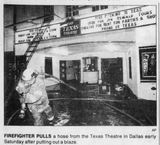 Fire at Texas Theater in Dallas -