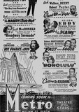 Bottom half of press ad for MGM attractions coming to Perth's Metro in 1939