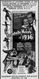Display ad for BROADWAY MELODY OF 1936