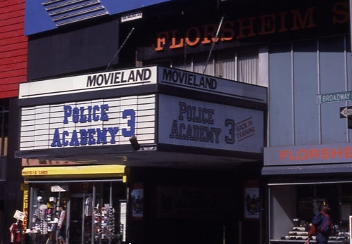 "Movieland Theatre ""Police Academy 3"" (1986) engagement"