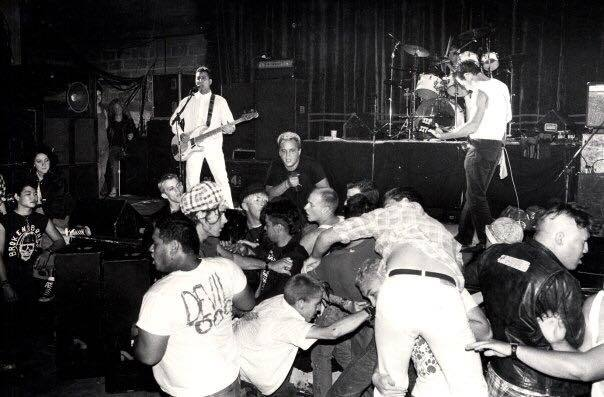 Punk rock in the `80's at the Queen. Photo credit George FLee.