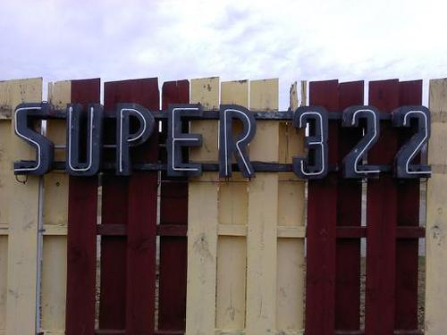 SUPER 322 old neon sign - back in use.