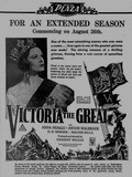 VICTORIA THE GREAT at the Plaza, August 1938