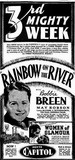 RAINBOW ON THE RIVER at the Capitol, October 1937
