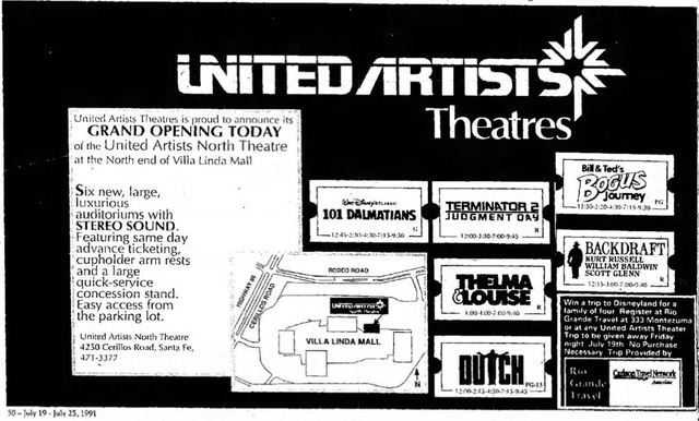 July 19th, 1991 grand opening ad