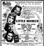 LITTLE WOMEN at Perth's Metro, December 1949