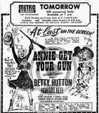 ANNIE GET YOUR GUN at Perth's Metro, December 1950