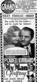 MY MAN GODFREY at Perth's Grand Theatre, February 1937