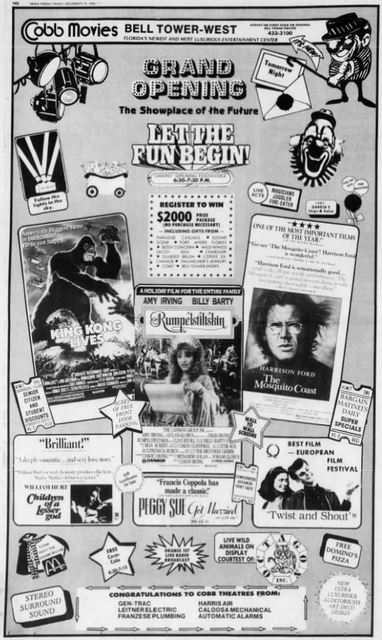December 19th, 1986 grand opening ad