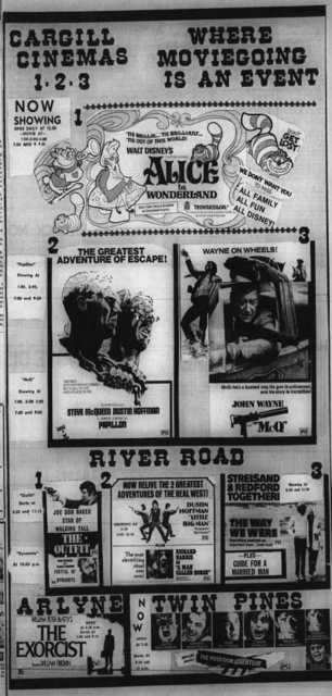 May 31st, 1974 grand opening ad as a 3-plex