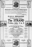 July 3rd, 1925 grand opening ad
