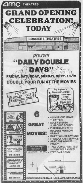 September 10th, 1982 grand opening ad