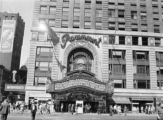 "Paramount Theatre in Times Square ""Holiday Inn"" engagement"
