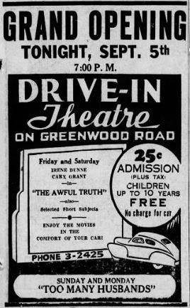 September 5th, 1941 grand opening ad