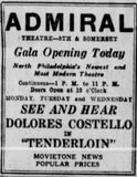 September 3rd, 1928 grand opening ad