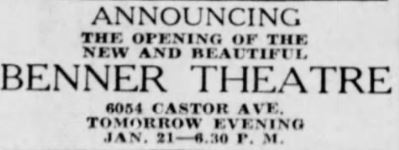 January 20th, 1941 grand opening ad