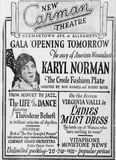 January 1st, 1928 grand opening ad