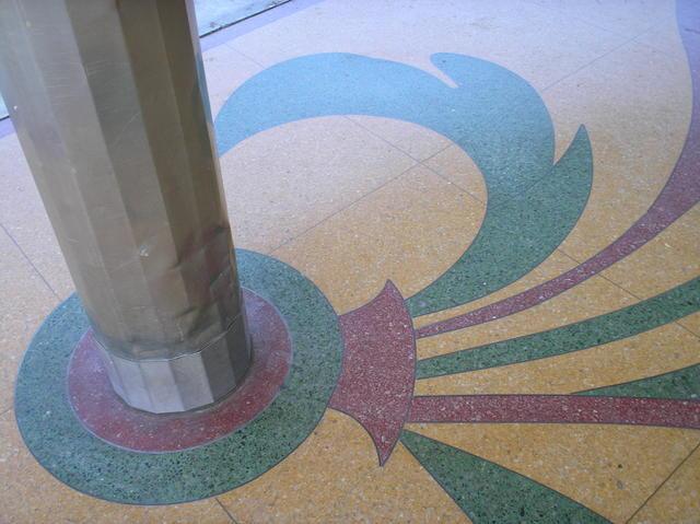 Terrazzo and pillar