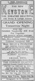 October 22nd, 1911 grand opening ad