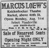 August 23rd, 1914 grand opening ad