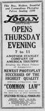 January 20th, 1924 grand opening ad