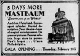 February 23rd, 1929 grand opening ad