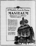 February 21 and 22, 1929 grand opening ads