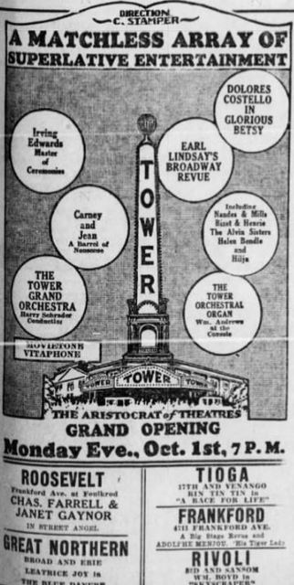 September 30th, 1928 grand opening ad