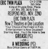 November 22nd, 1978 grand opening ad as a twin