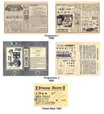 Programmes and Ticket 1956/57