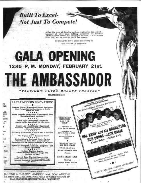 Grand Opening February 21,1938