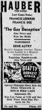 July 3rd, 1936 grand opening ad Hauber
