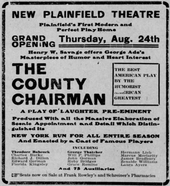 August 19th, 1905 grand opening ad