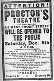 December 5th, 1908 grand opening ad as Proctor`s