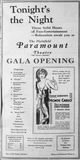 October 10th, 1930 grand opening ad as Paramount
