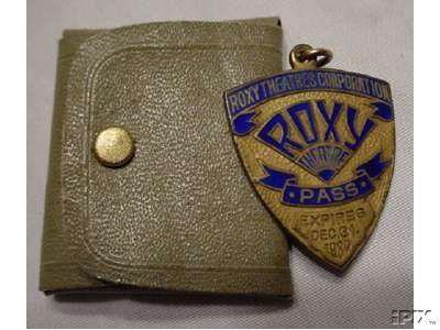 "ROXY Theatre NY ""lifetime"" pass medallion"