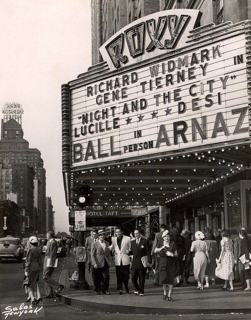 Lucille Ball & Desi Arnaz at the ROXY NY